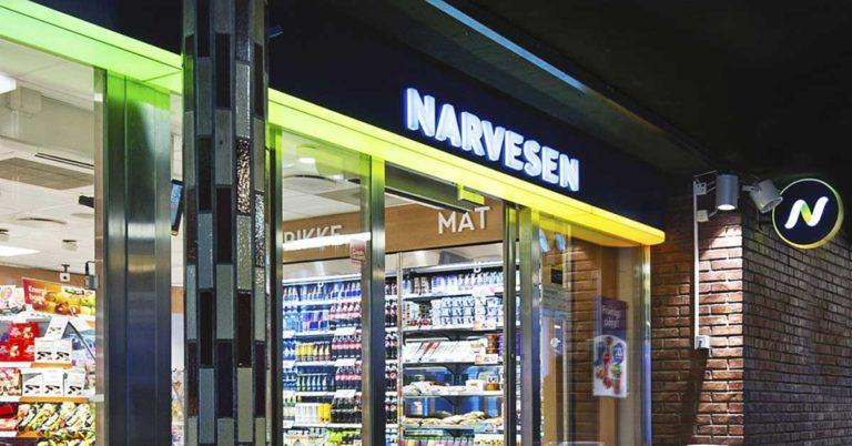 Inngangspartiet til en stor kiosk