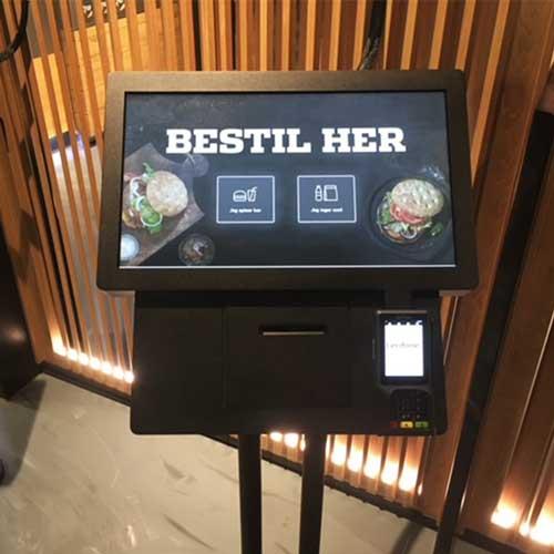 kiosk for bestilling i restaurant